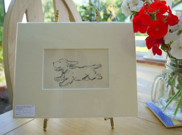 Terrier - running - Ter D39-  1930's print by Lucy Dawson